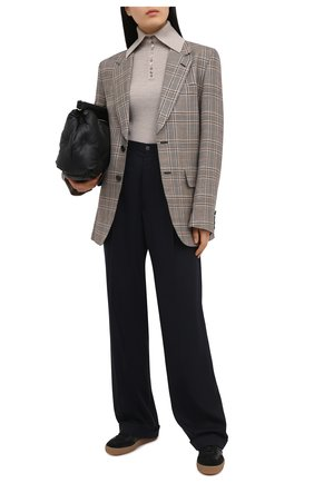 Женский шерстяной пуловер DEVEAUX NEW YORK бежевого цвета, арт. F203-707-CR1 | Фото 2