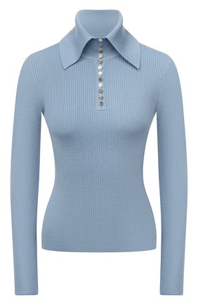 Женский шерстяной пуловер DEVEAUX NEW YORK голубого цвета, арт. F203-707-CR1 | Фото 1