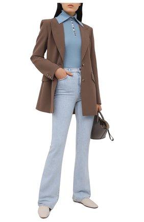 Женский шерстяной пуловер DEVEAUX NEW YORK голубого цвета, арт. F203-707-CR1 | Фото 2