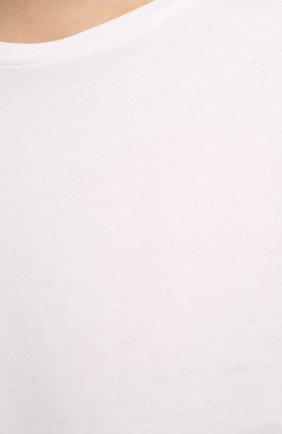 Женская хлопковая футболка TOTÊME белого цвета, арт. 211-472-770 | Фото 5