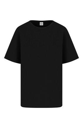 Женская хлопковая футболка TOTÊME черного цвета, арт. 211-472-770 | Фото 1