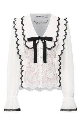 Женская блузка SELF-PORTRAIT белого цвета, арт. RS21-138 | Фото 1
