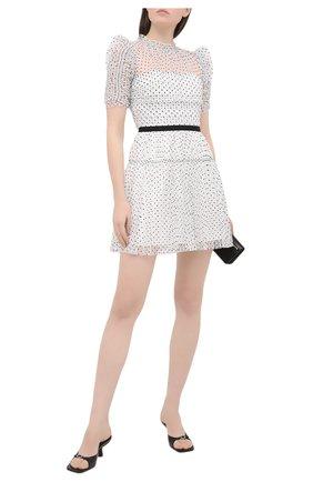 Женское платье SELF-PORTRAIT черно-белого цвета, арт. RS21-043P | Фото 2