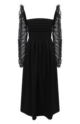 Женское платье SELF-PORTRAIT черного цвета, арт. RS21-043B | Фото 1