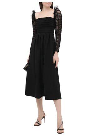 Женское платье SELF-PORTRAIT черного цвета, арт. RS21-043B | Фото 2