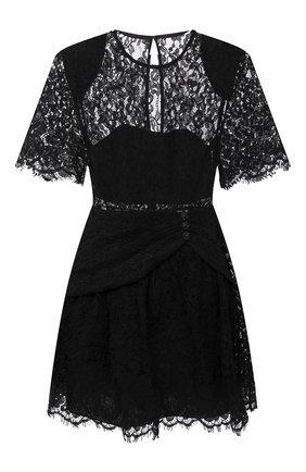 Женское платье SELF-PORTRAIT черного цвета, арт. RS21-039 | Фото 1