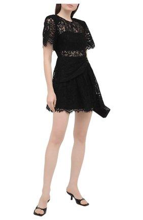 Женское платье SELF-PORTRAIT черного цвета, арт. RS21-039 | Фото 2