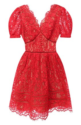 Женское платье SELF-PORTRAIT красного цвета, арт. RS21-035 | Фото 1