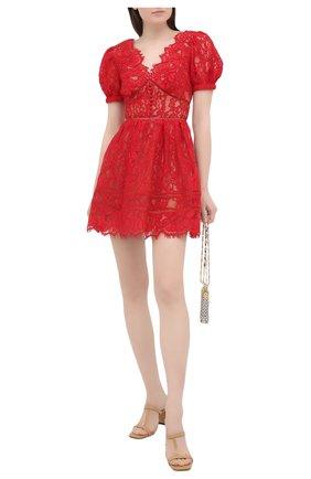 Женское платье SELF-PORTRAIT красного цвета, арт. RS21-035 | Фото 2