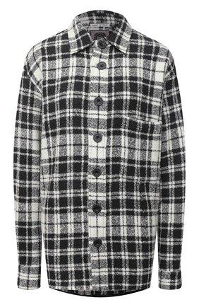 Женская рубашка из шерсти и кашемира DESTIN черно-белого цвета, арт. D5W0MAT/W0RKER GRANT FLEECY | Фото 1