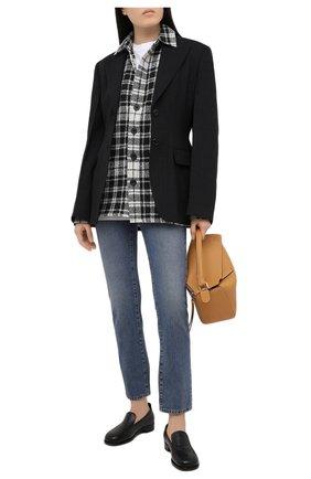 Женская рубашка из шерсти и кашемира DESTIN черно-белого цвета, арт. D5W0MAT/W0RKER GRANT FLEECY | Фото 2