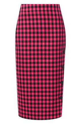 Женская юбка BALENCIAGA розового цвета, арт. 642174/TJ029 | Фото 1
