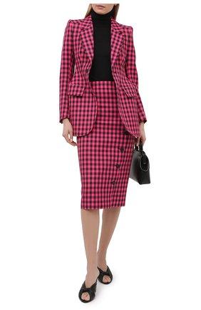 Женская юбка BALENCIAGA розового цвета, арт. 642174/TJ029 | Фото 2