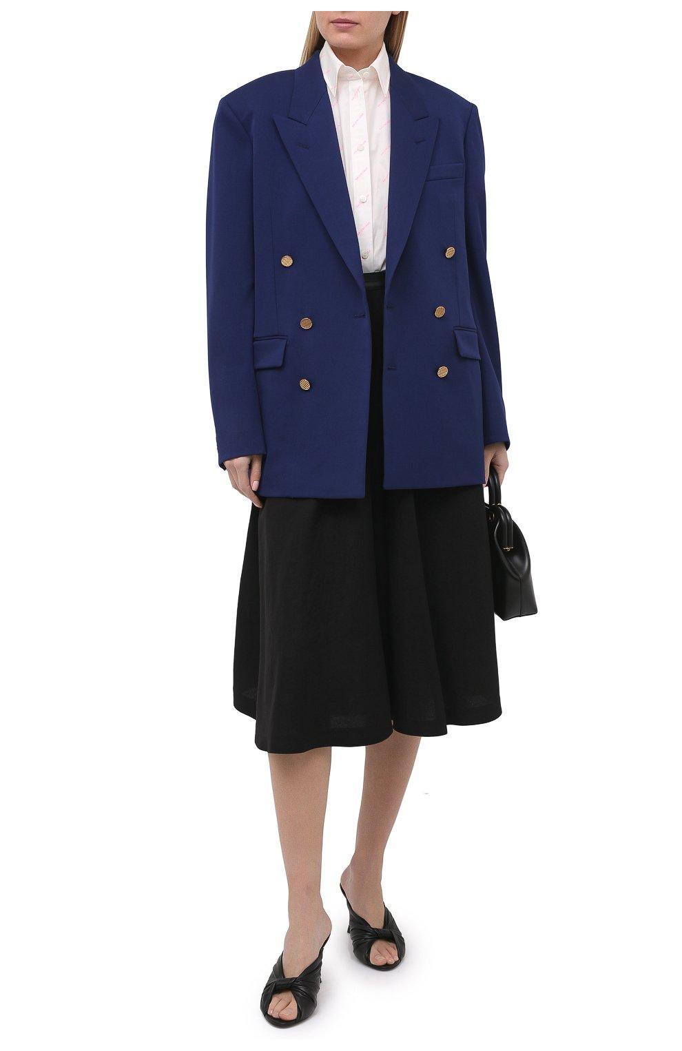 Женский шерстяной жакет BALENCIAGA синего цвета, арт. 643401/TJT21 | Фото 2