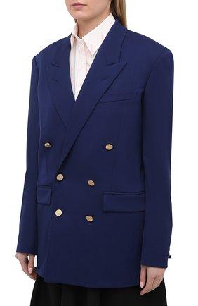 Женский шерстяной жакет BALENCIAGA синего цвета, арт. 643401/TJT21 | Фото 3
