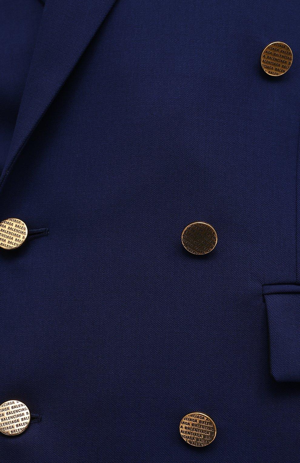 Женский шерстяной жакет BALENCIAGA синего цвета, арт. 643401/TJT21 | Фото 5