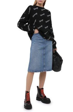 Женский шерстяной свитер BALENCIAGA черного цвета, арт. 646693/T4112 | Фото 2
