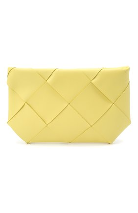 Женская кожаная косметичка BOTTEGA VENETA желтого цвета, арт. 577771/VMAY4   Фото 1