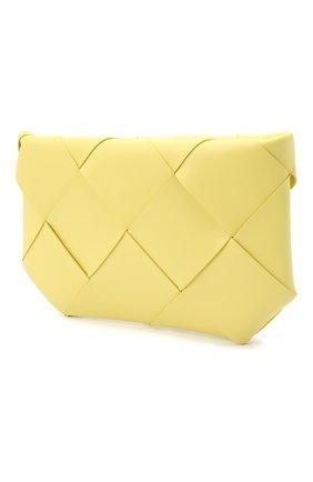 Женская кожаная косметичка BOTTEGA VENETA желтого цвета, арт. 577771/VMAY4   Фото 2