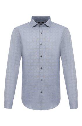 Мужская хлопковая сорочка BOSS синего цвета, арт. 50445527   Фото 1