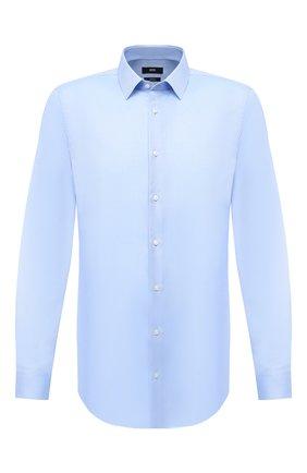Мужская хлопковая сорочка BOSS голубого цвета, арт. 50447265   Фото 1