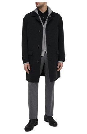 Мужское шерстяное поло LORO PIANA черного цвета, арт. FAI6519/VVIC | Фото 2