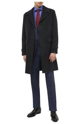 Мужская хлопковая сорочка KITON синего цвета, арт. UCCH0770909 | Фото 2