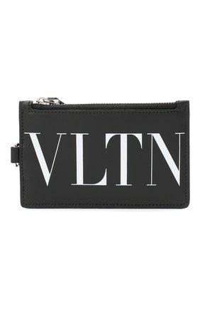 Мужской кожаный футляр для кредитных карт valentino garavani VALENTINO черно-белого цвета, арт. VY2P0R61/JBS | Фото 1