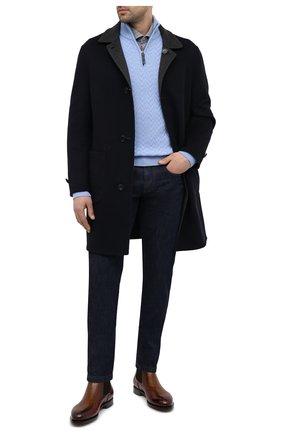 Мужские джинсы LORO PIANA темно-синего цвета, арт. FAF8318 | Фото 2