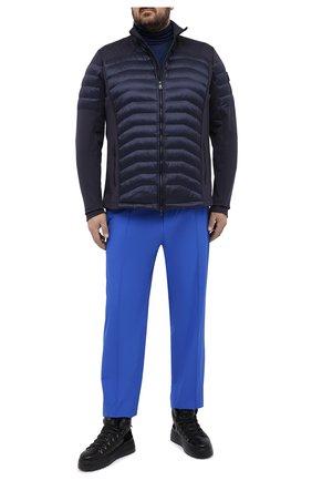Мужские джоггеры KITON синего цвета, арт. UW0945V07T91/60-68 | Фото 2