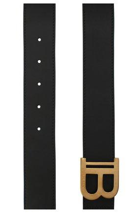Мужской кожаный ремень BALMAIN черного цвета, арт. VN1A002/LVPT | Фото 2