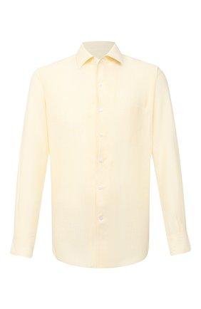 Мужская льняная рубашка LORO PIANA желтого цвета, арт. FAL6145 | Фото 1