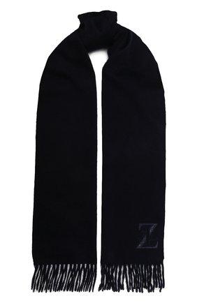 Мужской кашемировый шарф ZILLI темно-синего цвета, арт. MIU-INSIG-40825/0001/CP0R | Фото 1