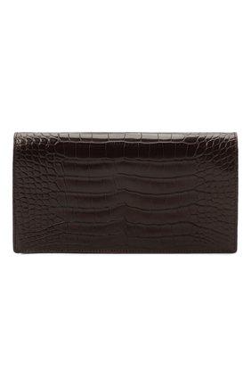 Мужской портмоне из кожи аллигатора ZILLI коричневого цвета, арт. MJL-0WL02-10100/0003/AMIS | Фото 1