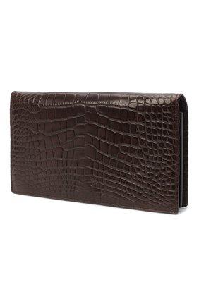 Мужской портмоне из кожи аллигатора ZILLI коричневого цвета, арт. MJL-0WL02-10100/0003/AMIS | Фото 2