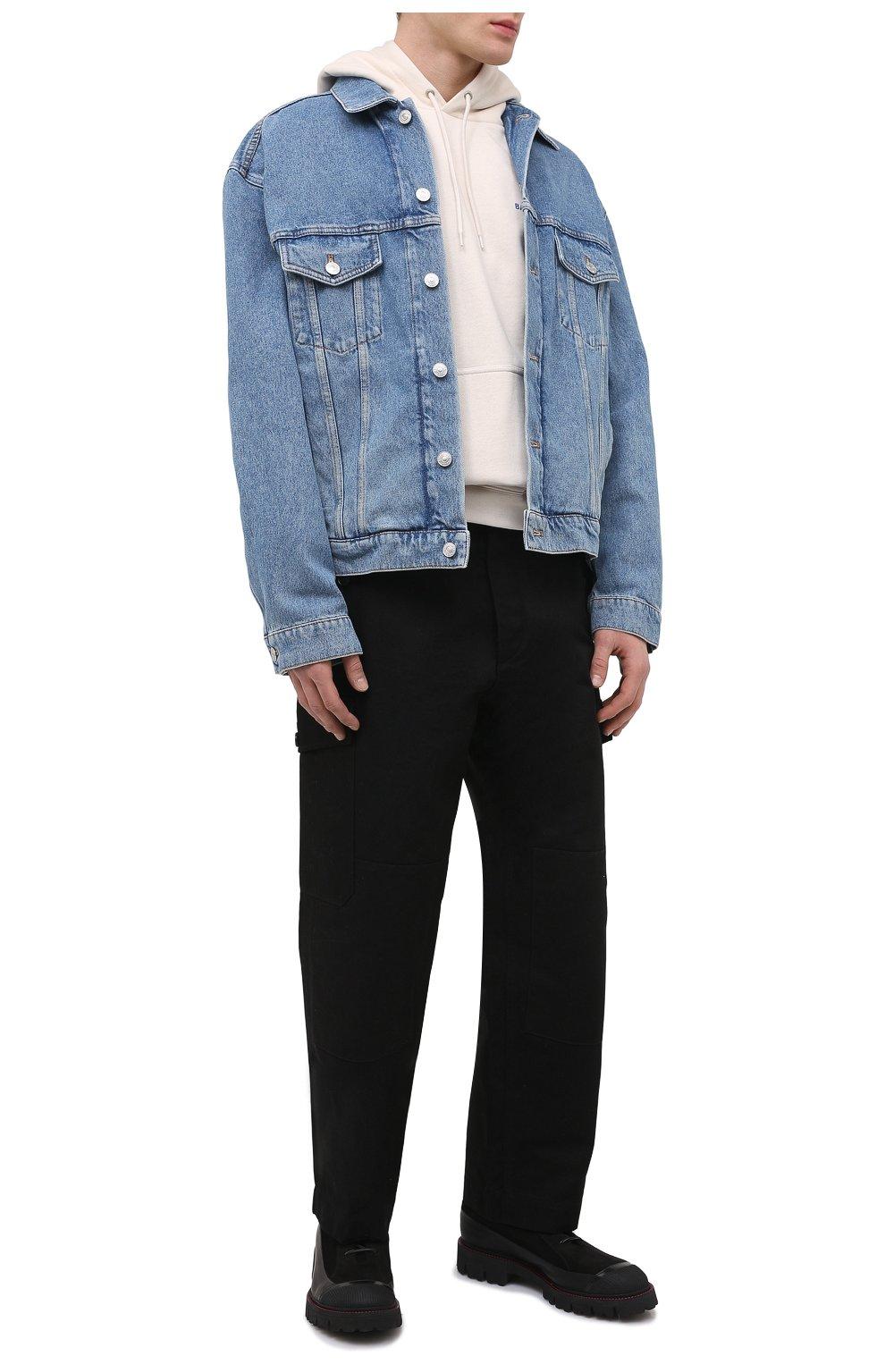 Мужская джинсовая куртка BALENCIAGA голубого цвета, арт. 646922/TDW15 | Фото 2