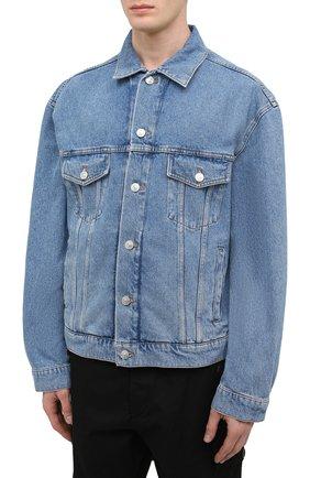 Мужская джинсовая куртка BALENCIAGA голубого цвета, арт. 646922/TDW15 | Фото 3
