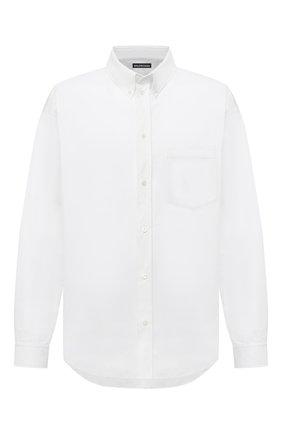 Мужская хлопковая рубашка BALENCIAGA белого цвета, арт. 647357/TYB18 | Фото 1