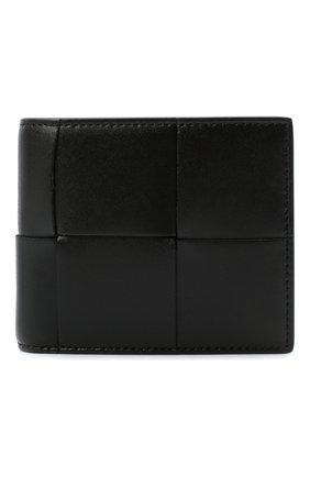 Мужской кожаное портмоне BOTTEGA VENETA черного цвета, арт. 649605/VBWD2 | Фото 1