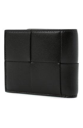 Мужской кожаное портмоне BOTTEGA VENETA черного цвета, арт. 649605/VBWD2 | Фото 2