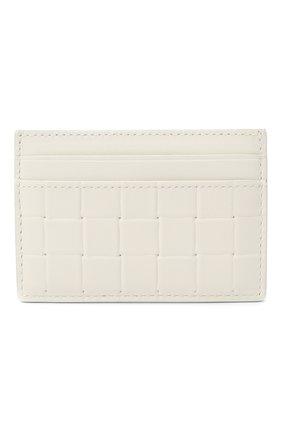 Мужской кожаный футляр для кредитных карт BOTTEGA VENETA белого цвета, арт. 635064/V0AQ1 | Фото 1