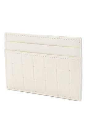 Мужской кожаный футляр для кредитных карт BOTTEGA VENETA белого цвета, арт. 635064/V0AQ1 | Фото 2