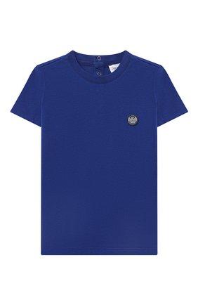 Детский комплект из футболки и шорт EMPORIO ARMANI белого цвета, арт. 3KHV06/4J4JZ | Фото 2