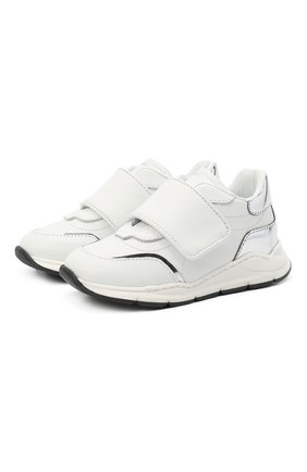 Детские кожаные кроссовки DOLCE & GABBANA белого цвета, арт. DN0145/AK186   Фото 1