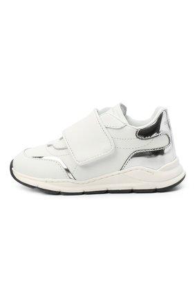 Детские кожаные кроссовки DOLCE & GABBANA белого цвета, арт. DN0145/AK186   Фото 2