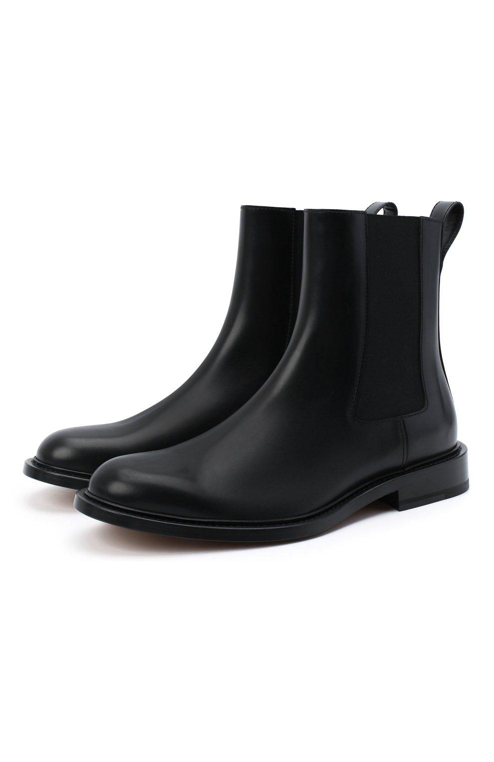 Мужские кожаные челси the level BOTTEGA VENETA черного цвета, арт. 652357/V00H0 | Фото 1 (Материал внутренний: Натуральная кожа; Подошва: Плоская; Мужское Кросс-КТ: Сапоги-обувь, Челси-обувь)
