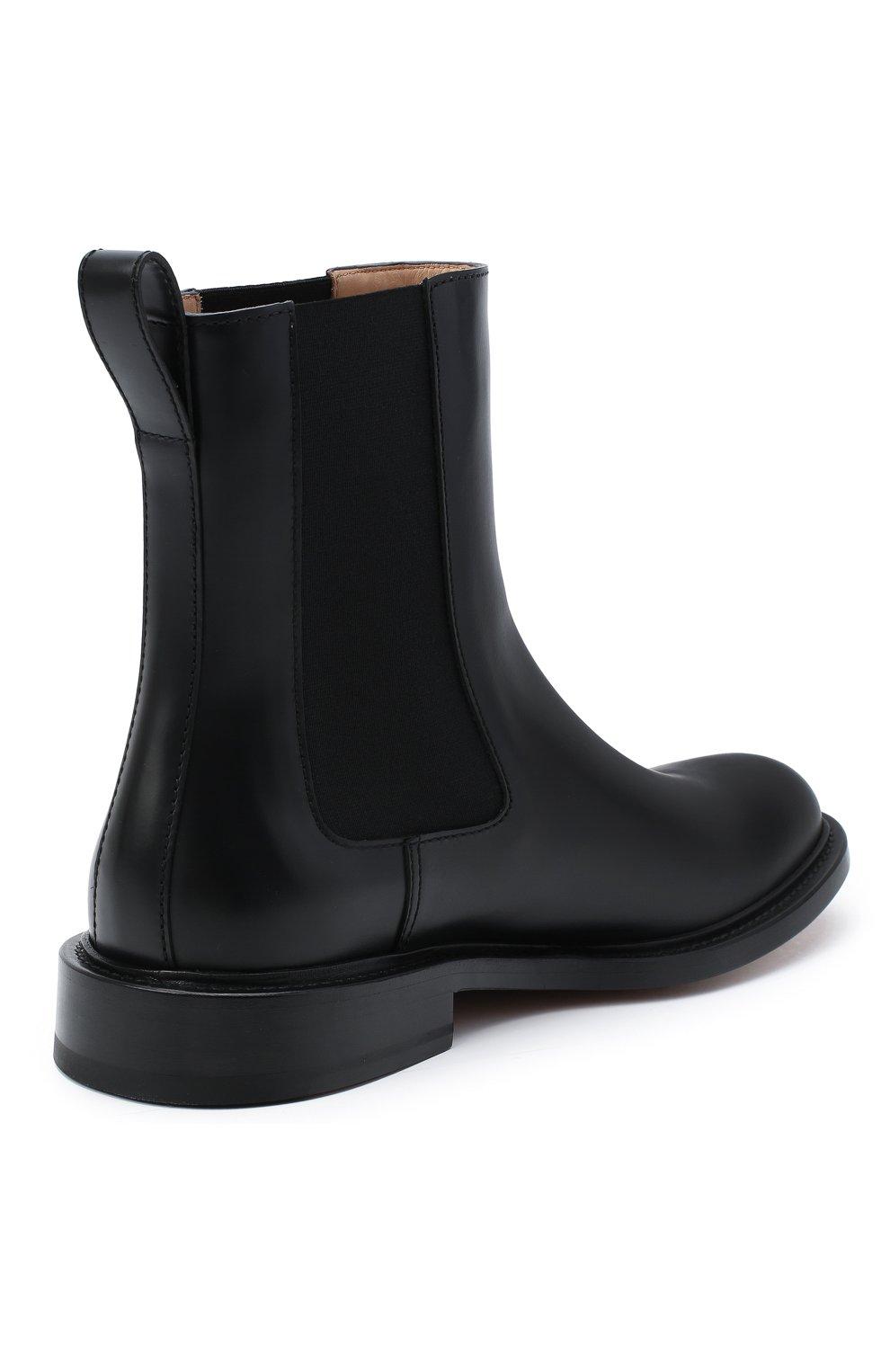 Мужские кожаные челси the level BOTTEGA VENETA черного цвета, арт. 652357/V00H0 | Фото 4 (Материал внутренний: Натуральная кожа; Подошва: Плоская; Мужское Кросс-КТ: Сапоги-обувь, Челси-обувь)