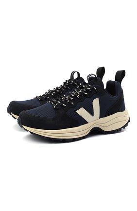 Мужские комбинированные кроссовки VEJA темно-синего цвета, арт. VT012294B | Фото 1