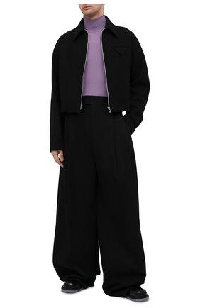 Мужская шерстяная куртка BOTTEGA VENETA черного цвета, арт. 646907/V0AW0 | Фото 2 (Кросс-КТ: Куртка; Материал внешний: Шерсть; Материал подклада: Вискоза; Мужское Кросс-КТ: шерсть и кашемир; Стили: Минимализм; Длина (верхняя одежда): Короткие; Рукава: Длинные)