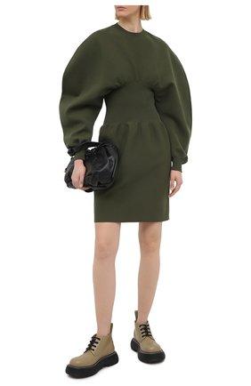 Женские кожаные ботинки bounce BOTTEGA VENETA серого цвета, арт. 651406/V00H0 | Фото 2